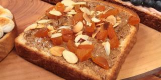 Almond and Apricot Sandwich