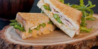 Turkey, Brie and Asparagus Panini