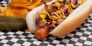 Montreal Smoked Meat Hot Dog