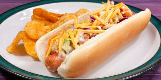 Crunchy Coleslaw Hot Dog