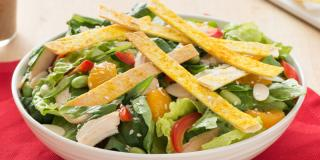 Chinese Chicken Salad with Crunchy Tortilla Crisps