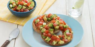 Sweet Chili Avocado Bruschetta Bagel