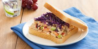 Tuna Sandwich with Red Cabbage