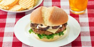 Turkey Cheese Burger with Mushrooms