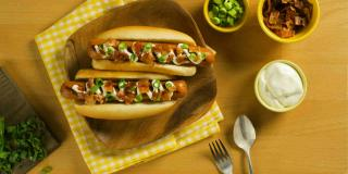 Baked Potato–Style Hot Dogs